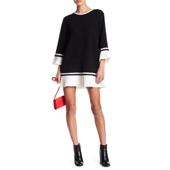 9ed13f038891 English Factory Dresses | Contrast Knit Pleated Dress | Poshmark